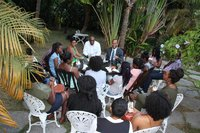 Mnister of Health Luke Browne meets with future Medical Doctors of SVG: