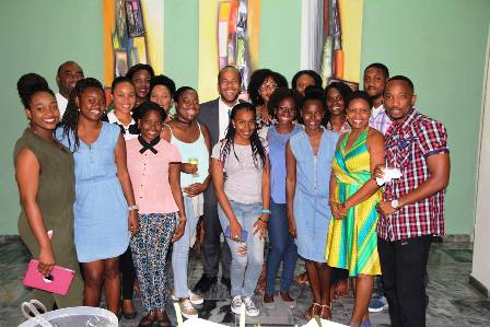 Health Minister Luke Brown Visits Future Doctors In SVG