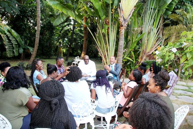 Minister Of Health Luke Brown Meets Future Doctos Of SVG